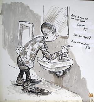 SECRETS IN THE JOHN - ORIGINAL ARTWORK; Secret Hours Vol 10, No. 1: Savage, Gene