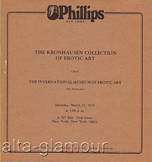 THE KRONHAUSEN COLLECTION OF EROTIC ART. Sale: Phillips