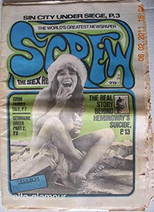 SCREW; The Sex Review Number 0117, May 31, 1971: Goldstein, Al (Editor)