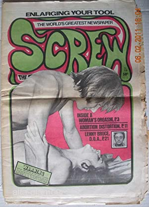 SCREW; The Sex Review Number 0119, June 14, 1971: Goldstein, Al (Editor)