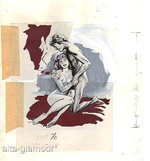 BROTHER, SISTER, SEX! (AKA NURSES & YOUNG MEN) - ORIGINAL ARTWORK AND PAPERBACK BOOK: Fulton, ...