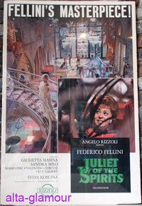 JULIET OF THE SPIRITS; Poster for the film starring Giulietta Masina and Sandra Milo: FELLINI, ...
