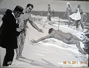UNTITLED - ORIGINAL ARTWORK; Continental Nudist
