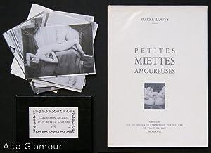PETITES MIETTES AMOUREUSES; [Poëmes libres. Deux contes. Collection secrète d'un ...