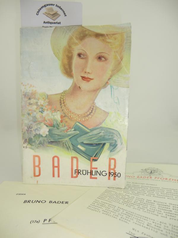 0d9e0e89ae9eb2 Bader Katalog Frühling 1950. von Bruno Bader   Pforzheim