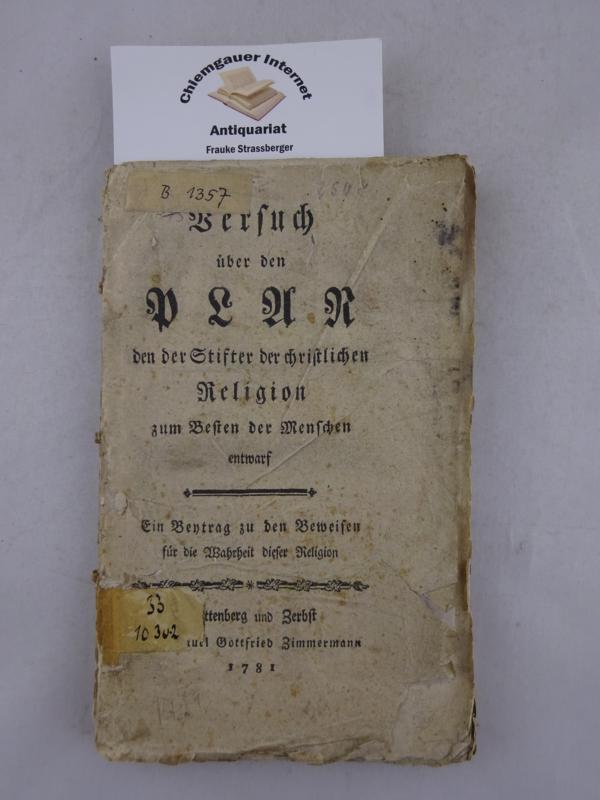 Versuch über den Plan den der Stifter: Reinhard, Franz Volkmar: