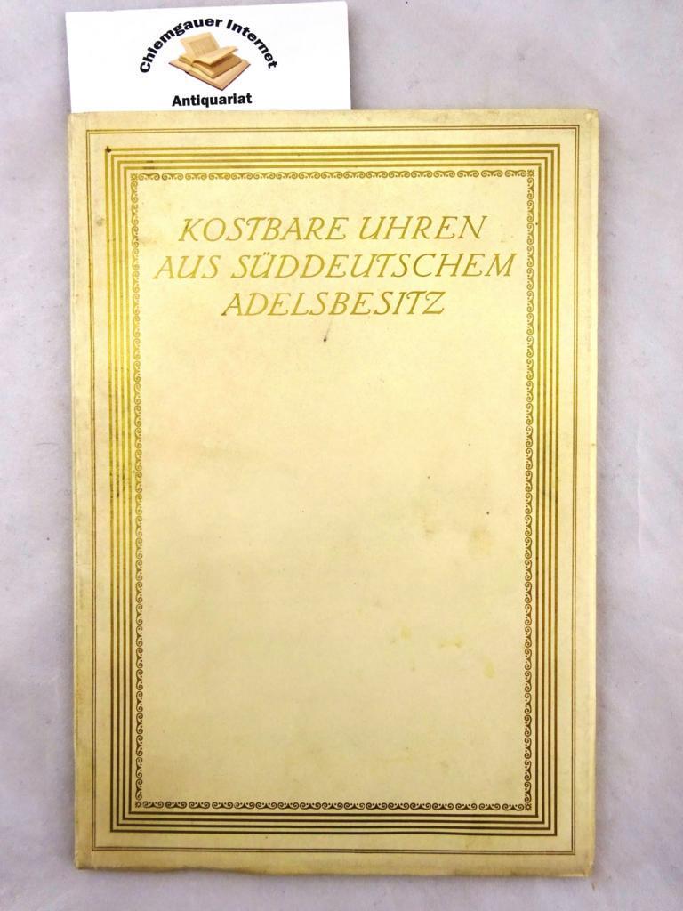 the latest 29901 11c83 Kostbare Uhren aus süddeutschem Privatbesitz. Katalog von Prof. Dr. von  Bassermann-Jordan