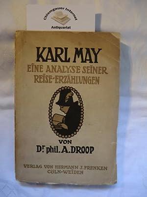 Karl May. Eine Analyse seiner Reise-Erzählungen. ERSTAUSGABE. Cöln-Weiden. Verlag von Hermann J. Frenken. 1909. 199 Seiten. 19 x 13 cm. Marmorierte Vorsätze.
