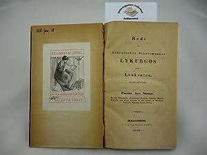 Rede des Athenischen Staatsmannes Lykurgos gegen Leokrates,: Fried. Aug. Nüsslin