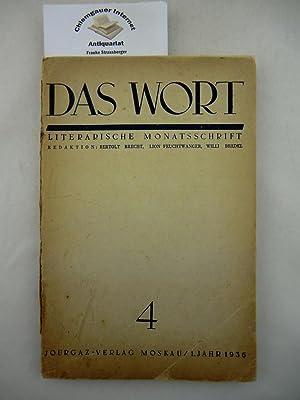 Das Wort. Literarische Monatsschrift. ERSTER Jahrgang. Heft: Brecht, Bertolt, Lion
