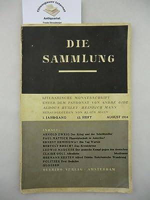 Die Sammlung. Literarische Monatsschrift. 1. Jahrgang. 12.: Mann, Klaus (Hrsg.):