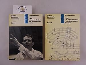 Texte zur elektronischen und instrumentalen Musik. Herausgegeben: Stockhausen, Karlheinz: