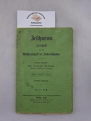 Jeschurun. Zeitschrift für die Wissenschaft des Judenthums.: Kobak, Dr.Joseph: