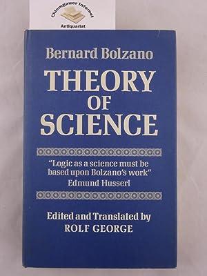 Theory of Science: Attempt at a detailed: Bolzano, Bernard: