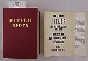 Hitler. Reden und Proklamationen 1932 - 1945.: Domarus, Max: