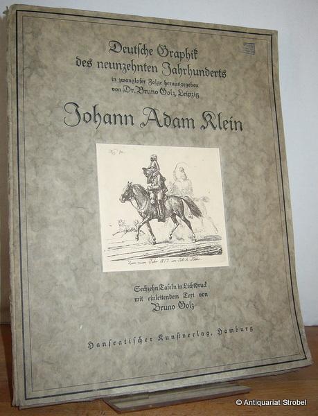 Johann Adam Klein. Sechzehn Tafeln in Lichtdruck: Klein.