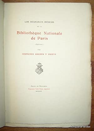 Los incunables ibéricos de la Bibliothèque Nationale de Paris (Epitome).