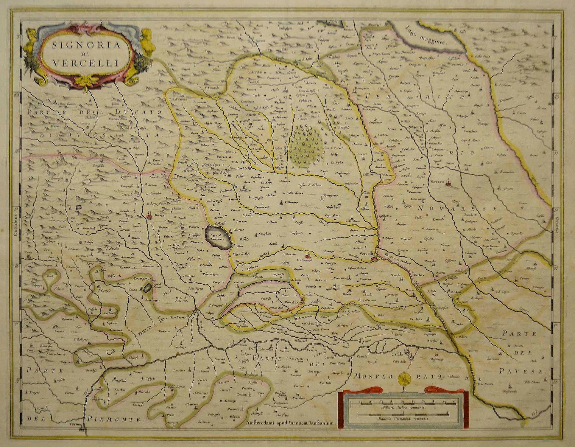 Karte Lago Maggiore Und Umgebung.Kupferstich Karte B Janssonius