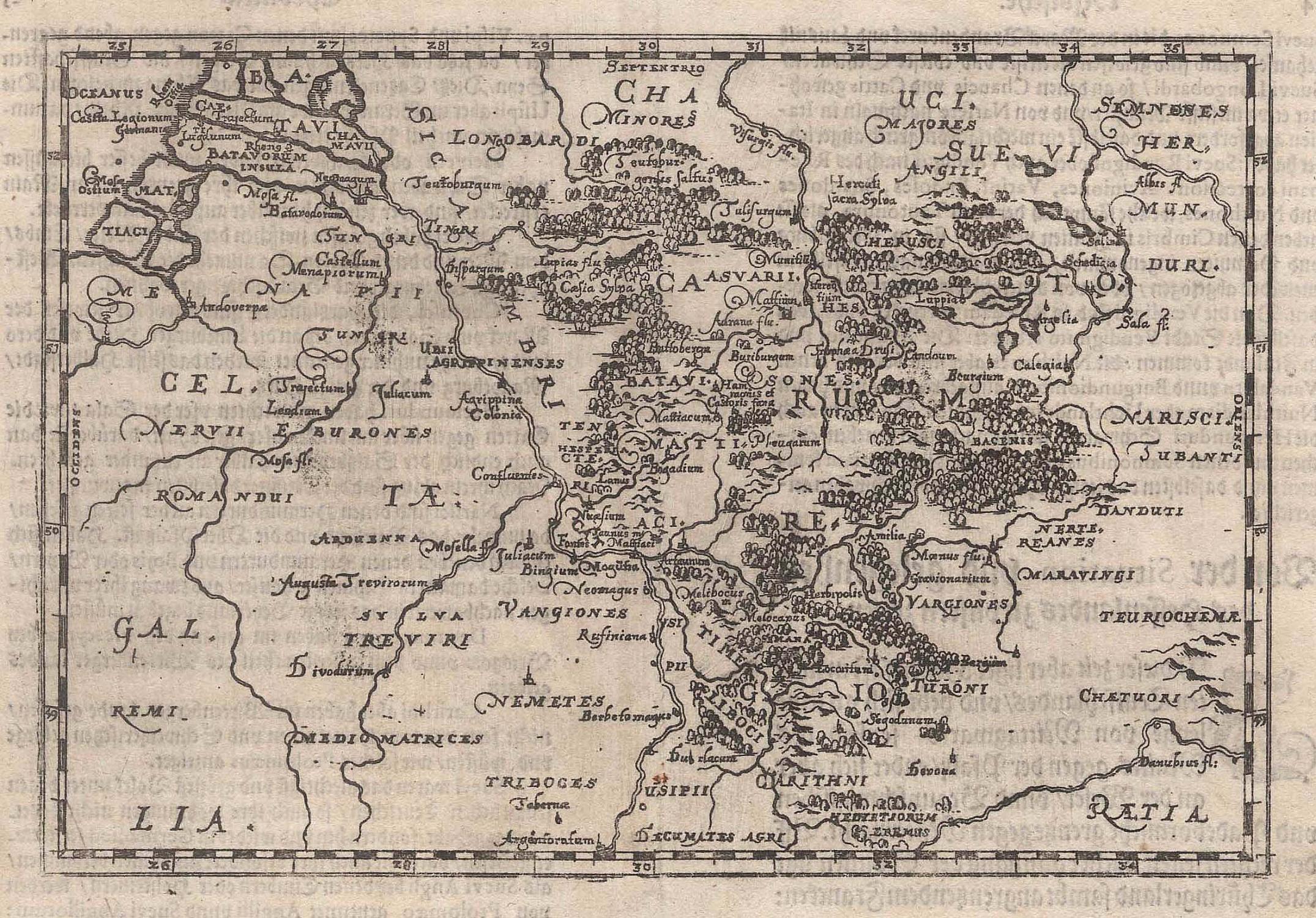 karte von hessen Kupferstich  Karte, von Dilich, ohne Titel. von HESSEN