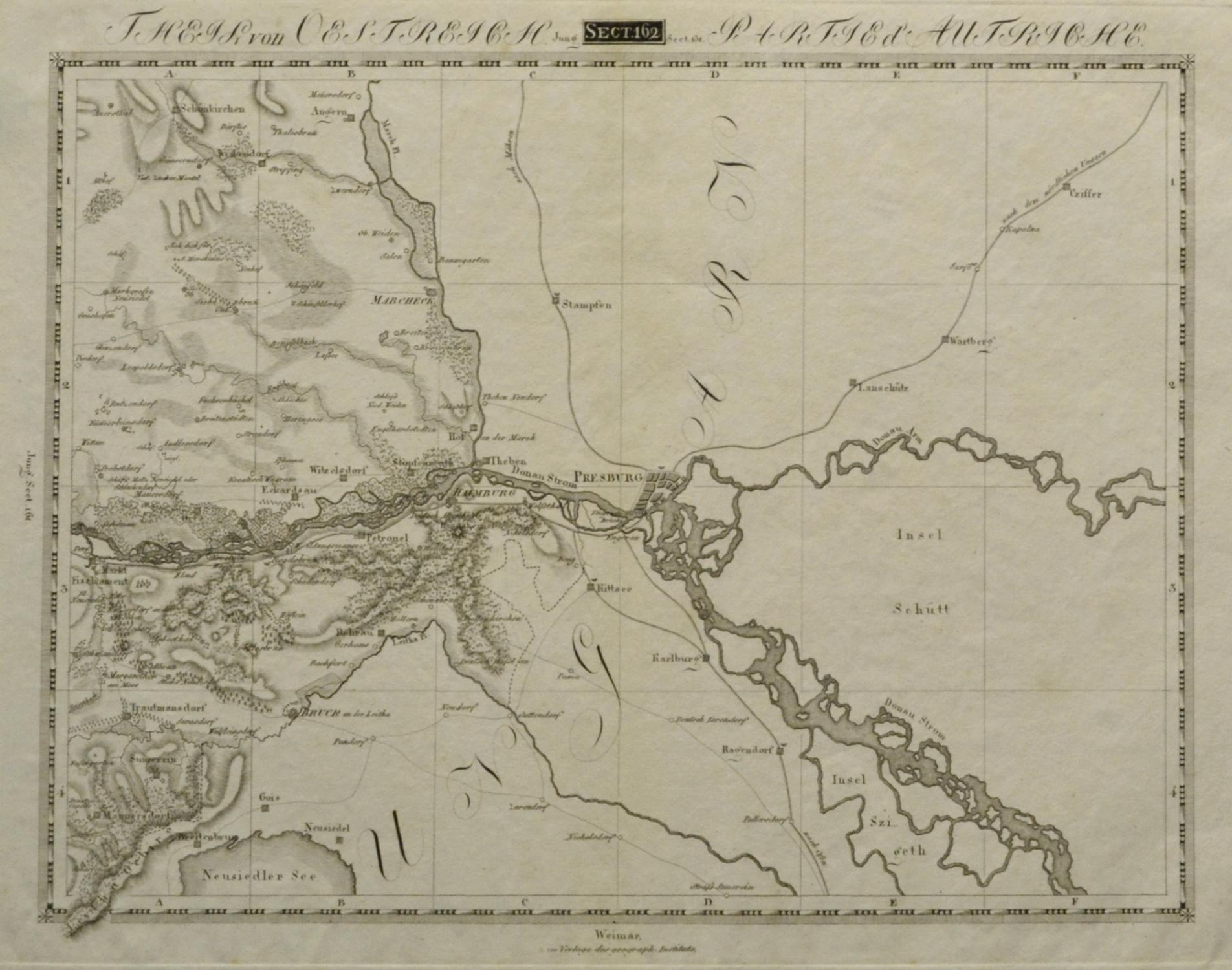 Karte Weimar Und Umgebung.Vialibri Kupferstich Karte B Geogr Institut In