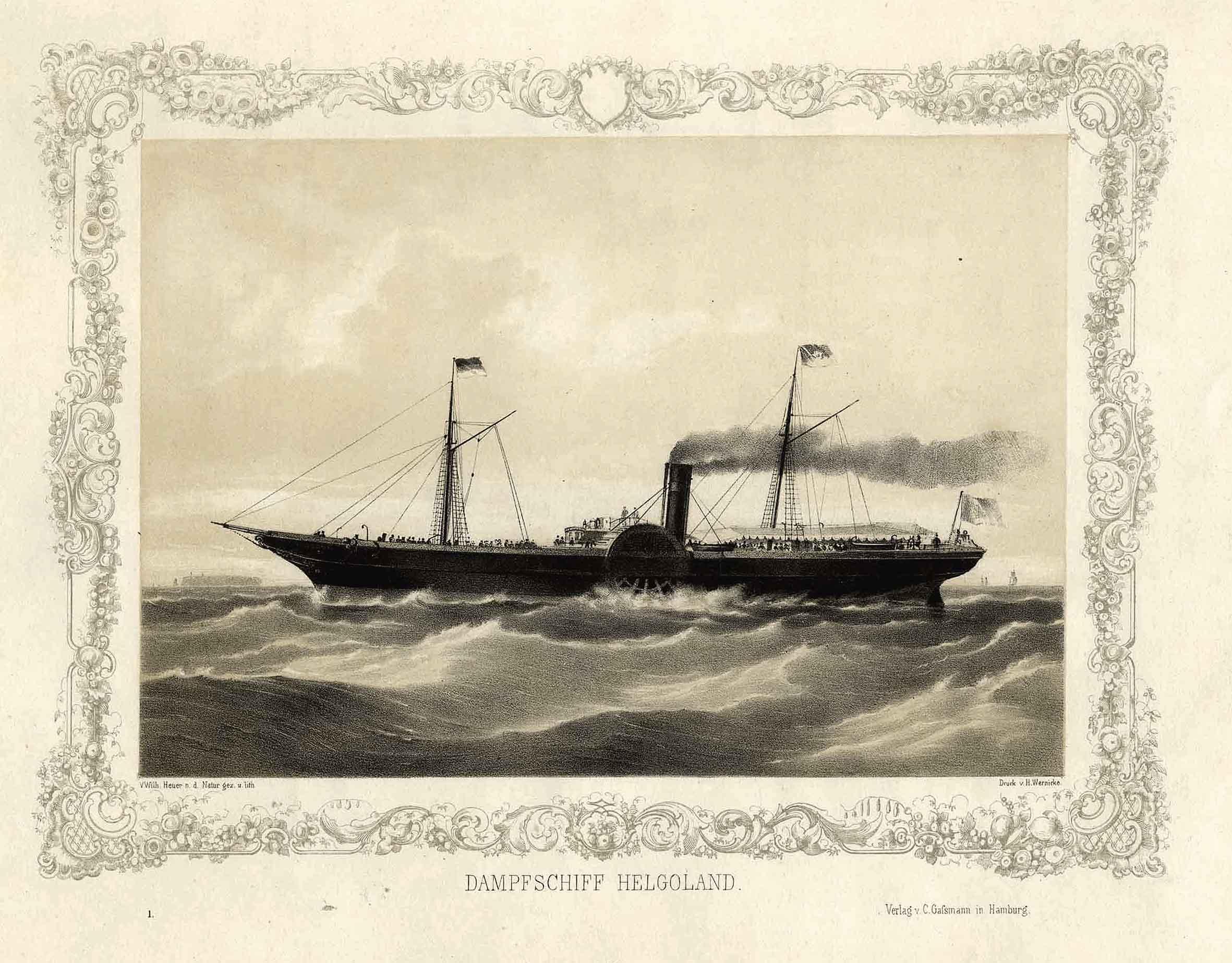 Dampfschiff Helgoland Von Schiffe Dampfschiff Antiquariat