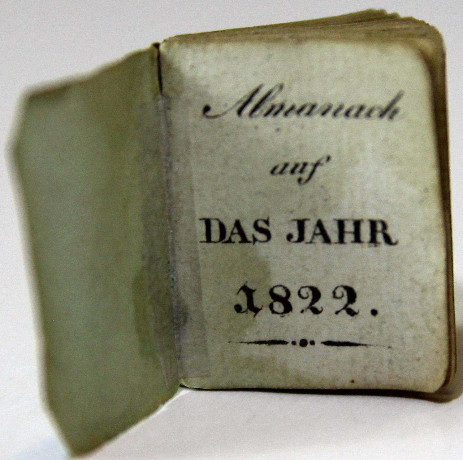 Almanach auf das Jahr 1822.: MINIATURBUCH - ALMANACH.