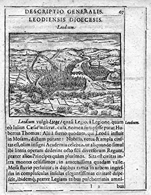 """Gesamtansicht, """"Leodium"""".: LÜTTICH ( Luik"""