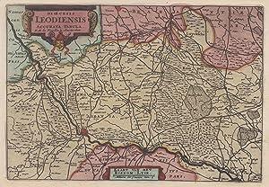 Kupferstich- Karte, v. Daniel de La Feuille: LÜTTICH ( Luik