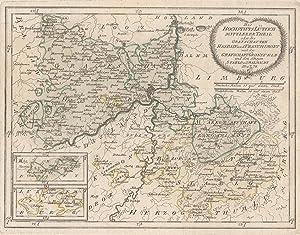 """Kupferstich- Karte, v. Reilly, """"Des Hochstifts Lüttich: LÜTTICH ( Luik"""