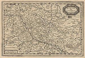Kupferstich- Karte, v. Pieter van der Aa,: LÜTTICH ( Luik