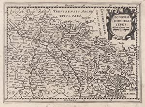 Kupferstich- Karte, n. Mercator b. Jans. -: LÜTTICH ( Luik