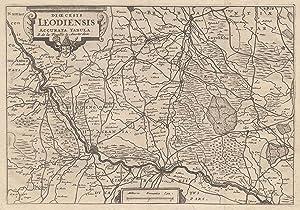 "Kupferstich- Karte, b. La Feuille, ""Dioecesis Leodiensis: LÜTTICH ( Luik"