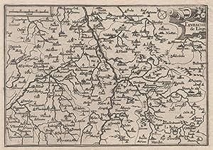 "Kupferstich- Karte, b. Christophe Tassin, ""L evesché: LÜTTICH ( Luik"
