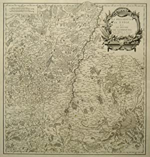 Kupferstich- Karte, b. Robert de Vaugondy fils,: LÜTTICH ( Luik