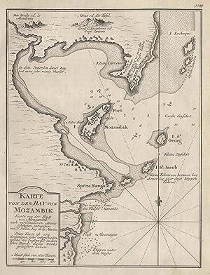 """Kst.- Karte n. Bellin, """"Karte von der: MOCAMBIQUE ( Mosambik"""