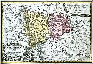 Kupferstich- Karte, n. Wieland u. Schubarth b.: MÜNSTERBERG ( Fürstentum