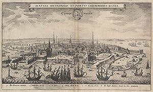 "Gesamtansicht, ""Hafnia metropolis et portus celeberrismus Daniae.: KOPENHAGEN:"