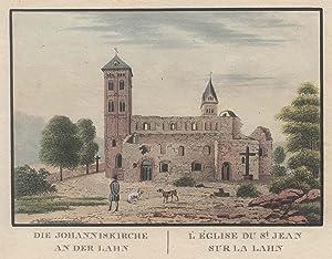 """Teilansicht, Johanneskirche, Ansicht der Ruine, """"Die Johanniskirche an der Lahn. ."""".: ..."""