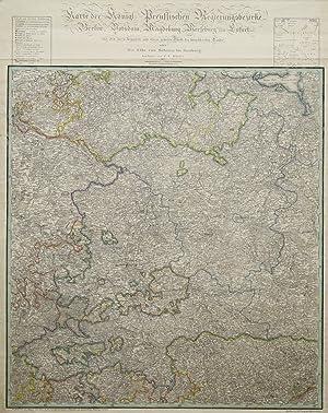 Kupferstich Karte von C. Jättnig nach C.F.: BRANDENBURG - SACHSEN-ANHALT
