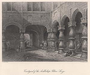 "Teilansicht, Palast, ""Courtyard of the Archbishops Palace: LÜTTICH ( Luik"