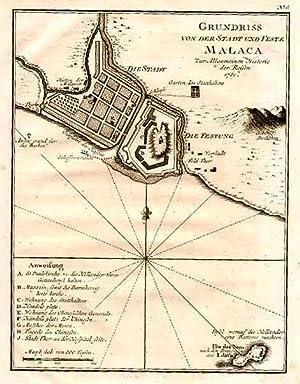 """Befestigungsgrundriß, """"Grundriss von der Stadt und Feste: MALAYSIA: MELAKA ("""