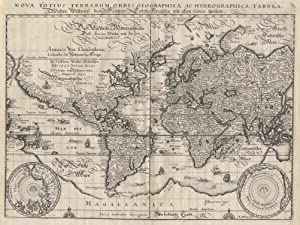 Kupferstich- Karte, v. M. Merian aus Werdenhagen,: WELTKARTE ( World