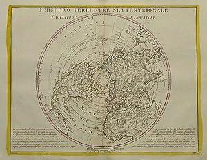 Kupferstich- Karte, v. Pitteri b. A. Zatta,: WELTKARTE ( World