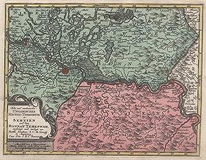 Kupferstich- Karte, b. M. Seutter ( Ausgabe: BANAT: