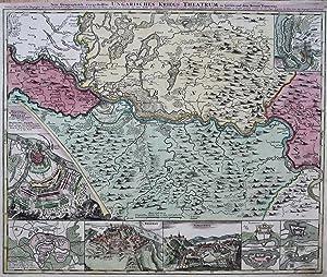 """Kupferstich- Karte, bei J.B. Homan, """"Neu-geographisch vorgestelltes: SERBIEN ( Serbia"""