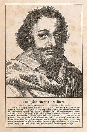 Basel 22. 09. 1593 - 19. 06.: MERIAN, Matthäus d.
