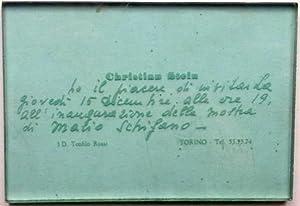 Mario Schifano - Christian Stein, 1967: SCHIFANO Mario