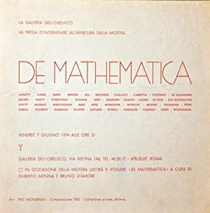 De mathematica, Galleria dell'Obelisco, Roma