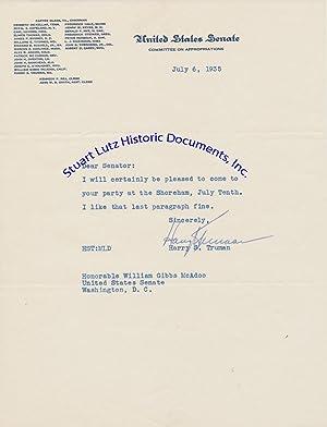 As Senator From Missouri, Harry Truman Accepts: HARRY TRUMAN