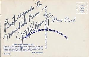 A Vintage John Glenn Space Postcard: JOHN GLENN